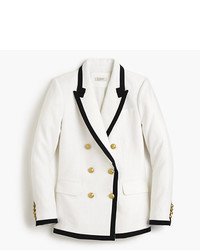 J.Crew Tipped Double Breasted Blazer In Linen