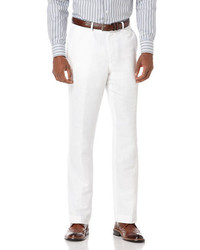Perry Ellis Big And Tall Linen Cotton Herringbone Suit Pant