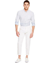 DKNY Cropped Cotton Linen Pant