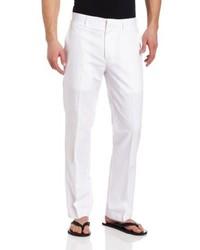 Cubavera Linen Cotton Herringbone Textured Pant
