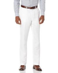 Perry ellis linen cotton herringbone suit pant medium 181165