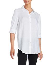 Calvin Klein Linen Blend Button Front Shirt