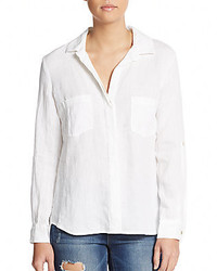 Linen hi lo shirt medium 535961