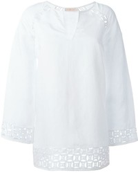 White Linen Long Sleeve Blouse