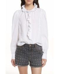 Isabel marant etoile tauren broderie linen shirt medium 6993438