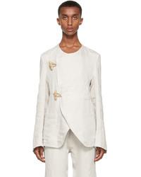 3MAN Beige Hemp Linen Toggle Jacket