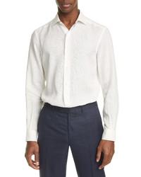 Ermenegildo Zegna Classic Fit Washed Linen Button Up Shirt