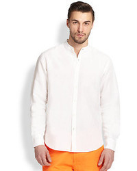 Saks Fifth Avenue Collection Cotton Linen Sportshirt
