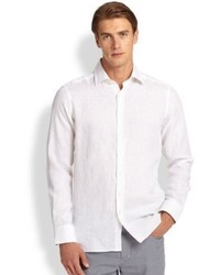 Saks Fifth Avenue Collection Linen Sportshirt