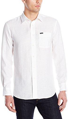 783db6d5 Façonnable Faconnable Linen Long Sleeve Shirt, $186   Amazon.com ...