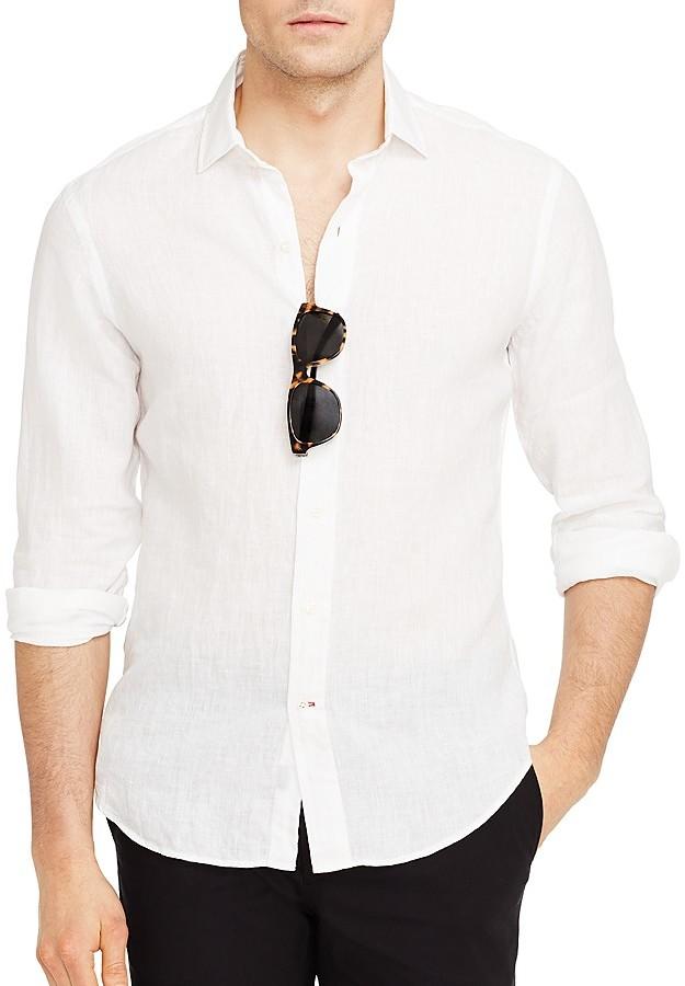 Ralph Lauren Black Label Linen Cotton Sloan Button Down Shirt Slim ...