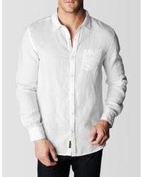 True Religion Linen Single Pocket Shirt