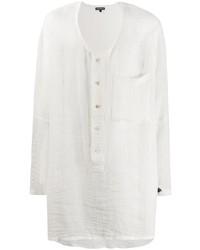 Ann Demeulemeester Long Length Collarless Shirt