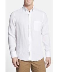 John W. Nordstrom Regular Fit Linen Sport Shirt