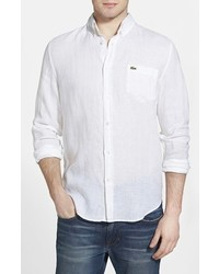 Lacoste Regular Fit Linen Woven Shirt