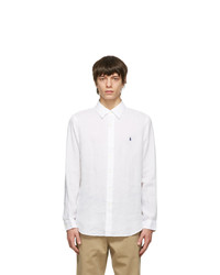 Polo Ralph Lauren White Linen Classic Fit Shirt