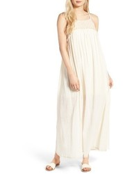 Moon River Crochet Trim Maxi Dress