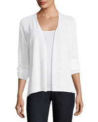 Eileen Fisher Organic Linen Slub Linen Cardigan Plus Size