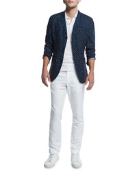 White Linen Polo