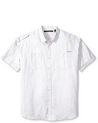 Sean John Big And Tall Short Sleeve Solid Linen Shirt2