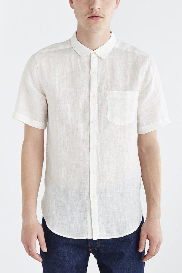 ... Urban Outfitters Your Neighbors Short Sleeve Kieran Linen Button Down  Shirt ... d2a20ffa343d7