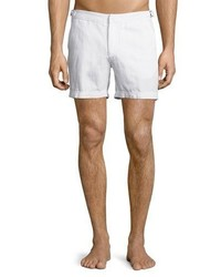 Orlebar Brown Cavrin Solid Linen Shorts White