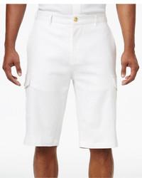 Sean John Lightweight Linen Cargo 125 Stretch Shorts