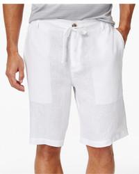 Tasso Elba Linen Drawstring 10 Shorts Only At Macys