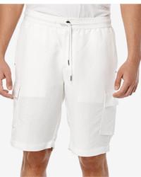 Cubavera Linen Drawstring Full Elastic Cargo Shorts