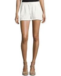 Max Studio Linen Drawstring Waist Shorts