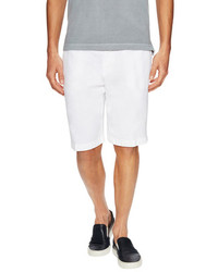 Etro Linen Solid Slant Pocket Shorts