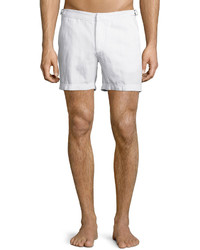 Orelebar Brown Cavrin Solid Linen Shorts White