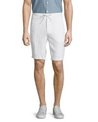 Saks Fifth Avenue Solid Linen Drawstring Bermuda Shorts