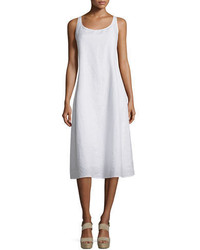 Eileen Fisher Sleeveless Linen Scoop Neck Tank Dress