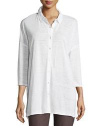 34 sleeve organic linen jersey tunic medium 4123397