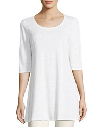 Half sleeve linen jersey layering tunic plus size medium 3719376