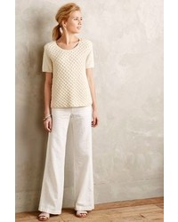 Anthropologie Pilcro Linen Trousers Sand 10 Pants