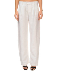 Atm Pleated Linen Boyfriend Style Pants