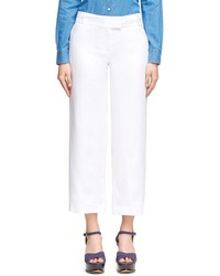 Brooks Brothers Cropped Wide Leg Linen Pants