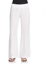 Linen flare leg pants medium 268618
