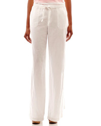 Liz Claiborne Linen Wide Leg Pants Tall
