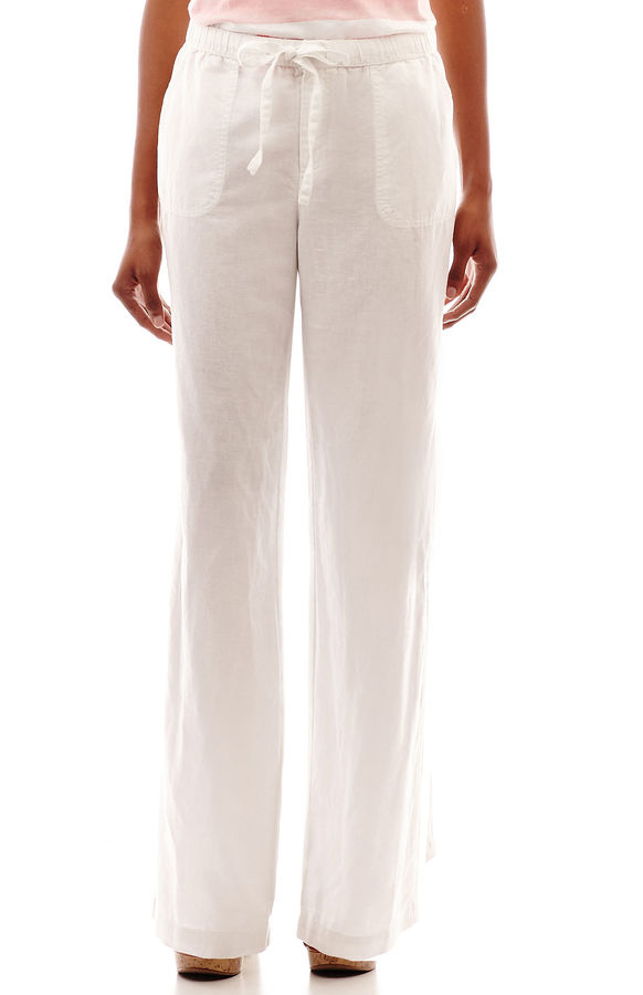 Liz Claiborne Linen Wide Leg Pants Tall | Where to buy & how to wear