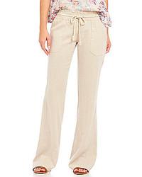 7568287d9b Roxy Oceanside Linen Blend Pants, $39 | Dillard's | Lookastic.com