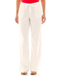 St Johns Bay St Johns Bay Linen Blend Wide Leg Pants