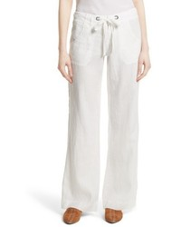 Wide leg linen pants medium 5256189