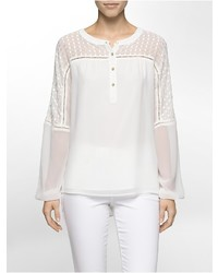 Calvin Klein Boho Long Sleeve Blouse