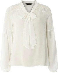 Dorothy Perkins Ivory Casual Pussybow Blouse