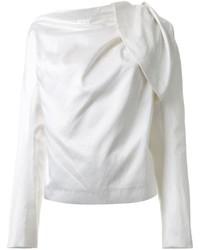 Draped long sleeve blouse medium 684686