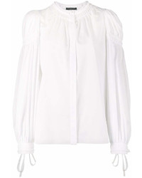 Alexander McQueen Gathered Long Sleeve Blouse