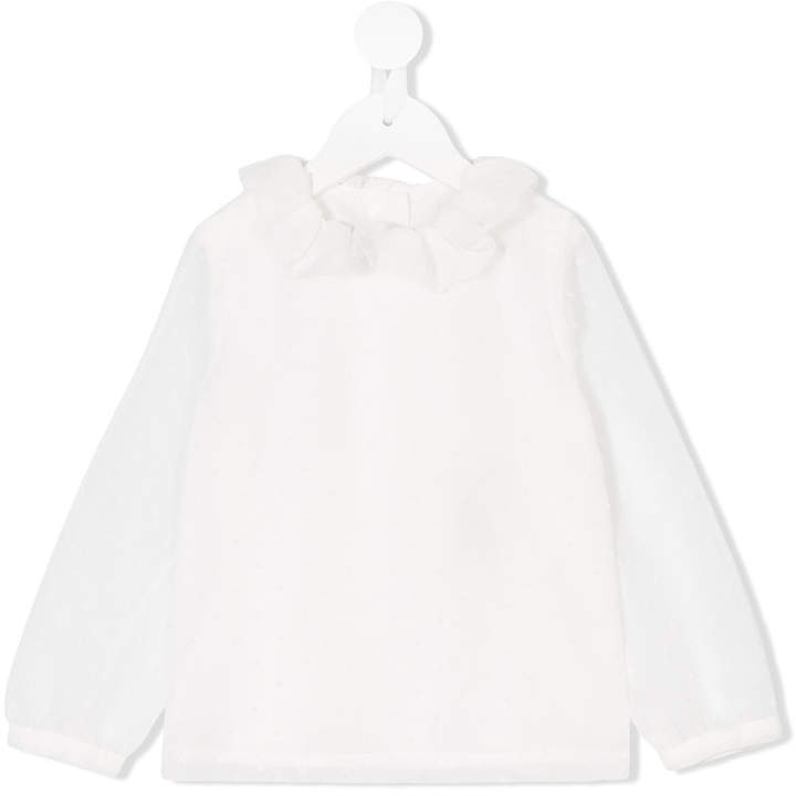 Hucklebones London Ruffle Neck Blouse